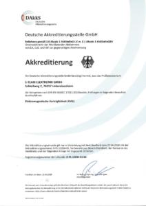 Akkreditierungsurkunde für EMV-Messlabor, S-Team Elektronik GmbH